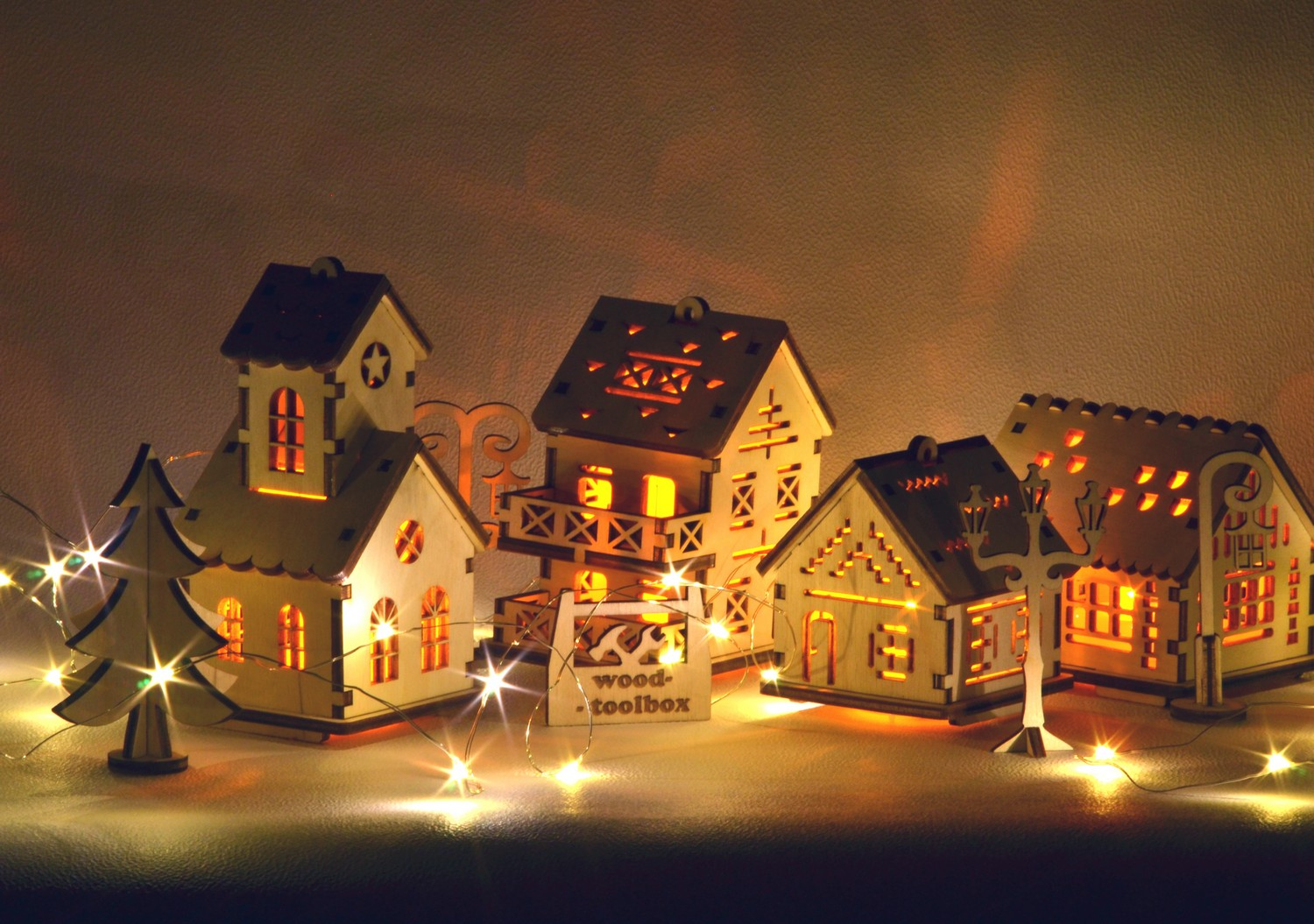 Christmas House.Christmas Village Torch For Led Candles